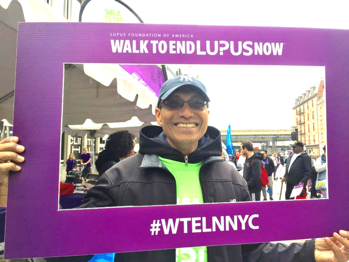 """Dan Barauh at the New York City Walk to End Lupus Now event"""